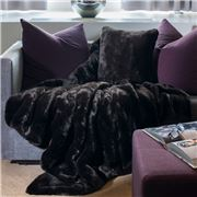 Evelyne Prelonge - Faux Fur Black Throw Rug