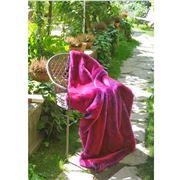 Evelyne Prelonge - Faux Fur Throw Rug Pink