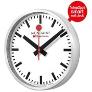 Mondaine - Smart Stop2Go Wall Clock White