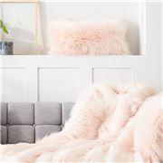 Evelyne Prelonge - Faux Fur Cushion Himalaya Blush 28x48cm
