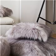 Evelyne Prelonge - Faux Fur Cushion Himalaya Pearl 28x48cm