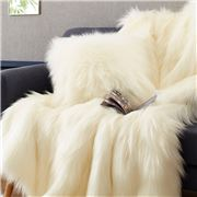 Evelyne Prelonge - Faux Fur Cushion Himalaya Ivory 28x48cm