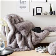 Evelyne Prelonge - Faux Fur Throw Rug Himalaya Pearl
