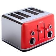 Sunbeam - Gallerie Four Slice Toaster TA2640RW Red W/Melon
