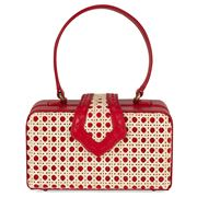Mehry Mu - Fey In The 50s Bag Leather & Rattan Red