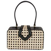 Mehry Mu - Fey In The 50s Bag Leather & Rattan Black
