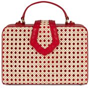 Mehry Mu - Fey Box Bag Leather & Rattan Red