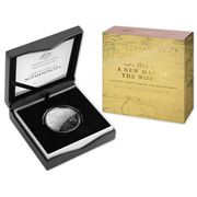 RA Mint - Captain Cook's Tracks $5 Silver Proof Domed Coin