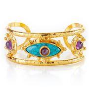 Sylvia Toledano -  Third Eye Cuff Turquoise & Amethyst