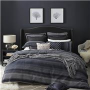 Private Collection - Benson Quilt Cover Set Navy Queen 3pce