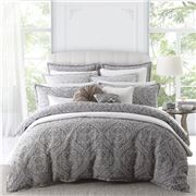 Private Collection - Manon Quilt Cover Set Silver Queen