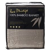 Bas Phillips - 100% Bamboo Blanket Stone Queen/King