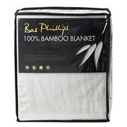 Bas Phillips - 100% Bamboo Blanket White Queen/King