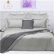 Odyssey Living - 1000 TC Quilt Cover Set Silver Queen 3pce