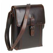 Greenburry - Boston Leather Shoulder Bag Chestnut