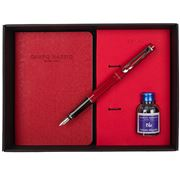 Campo Marzio -  Forbes Fountain Pen  W/ Journal Cherry Red