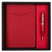 Campo Marzio - Minny Ballpoint Pen With Journal Cherry Red