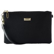 Serenade Leather - Cosmopolitan Cross Body Bag Black