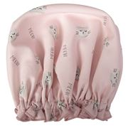 AT - Shower Cap Cats Meow Pink