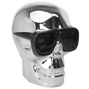 Fancy - Skull Ceramic Skull in Shades Silver Extra Large