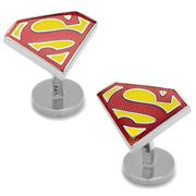 Cufflinks - Textured Superman Shield Cufflinks