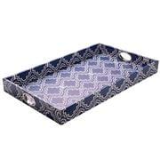 Avalon - Tile Tray Large Blue & White