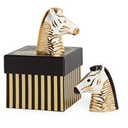 Jonathan Adler - Animalia Salt & Pepper Set Black/Gold 2pce