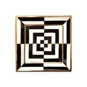 Jonathan Adler - OP Art Square Tray Black/White