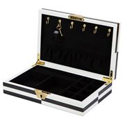 Jonathan Adler - Small Op Art Lacquer Jewellery Box Blk/Wht