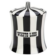 Jonathan Adler - Vice White Lies Canister Black and White