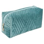 AT - Velvet Cosmetic Bag Teal