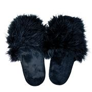 AT - Glam Scuff Slippers Black Small
