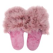 AT - Glam Scuff Slippers Pink Small