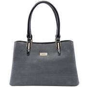 Serenade Leather - Bermuda Leather Handbag Black