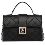 Serenade Leather - Teagan Quilted Leather Bag Black