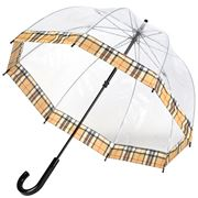 Clifton - Birdcage Umbrella Clifton Camel Tartan Print