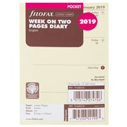 Filofax - Pocket Week On Two Pages 2019 Refill Cotton Cream
