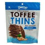 Danny's - Toffee Thins M/Chocolate Peanut & Sea Salt 140g