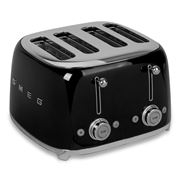 Smeg - 50's Retro Four Slot Toaster TSF03 Black