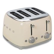 Smeg - 50's Retro Four Slot Toaster TSF03 Cream