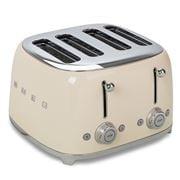 Smeg - 50's Retro Four Slot Toaster TSF03 Cream