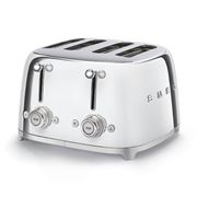 Smeg - 50's Retro Four Slot Toaster TSF03 Chrome