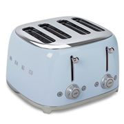 Smeg - 50's Retro Four Slot Toaster TSF03 Pastel Blue