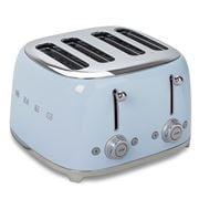 Smeg - 50's Retro Four Slot Toaster TSF03 Pastel Blue