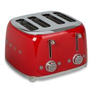 Smeg - 50's Retro Four Slot Toaster TSF03 Red