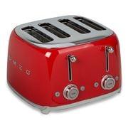 Smeg - 50's Retro Four Slot Toaster TSF03 Red
