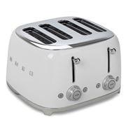 Smeg - 50's Retro Four Slot Toaster TSF03 White
