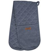 Ogilvies Designs - Double Ended Oven Mitt Chef Stripe Navy