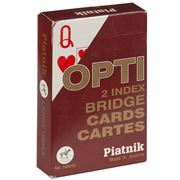 Piatnik - Opti Bridge Large Index Playing Cards Red