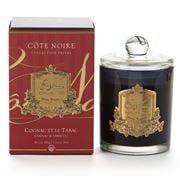 Cote Noire - Cognac & Tabacco Candle w/Gold Crest 450g